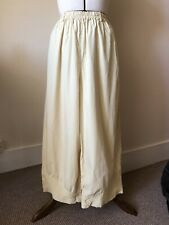 YACCO MARICARD 100% Cotton Summer Ankle Length Trousers w. Beautiful Detailing