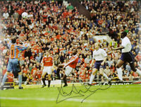 ANDY COLE SIGNED MANCHESTER UNITED 1999 TITLE WINNING GOAL 16x12 PHOTO COA PROOF