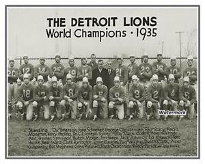 NFL 1935 Detroit Lions 1st Championship Team Picture 8 X 10 Photo Picture