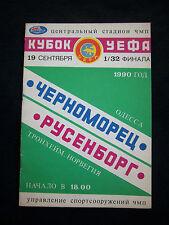 Orig.PRG    UEFA Cup  1990/91    CHORNOMORETZ ODESSA - ROSENBORG TRONDHEIM  !!