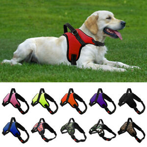 XS-XL Dog Harness Collar Lead Adjustable Padded Resistant Non Pull Vest Puppys