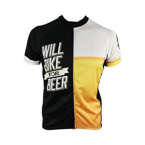 Will Bike for Beer Cycling Jersey Short Sleeve Bike jersey