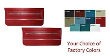 Pre-Assembled Door Panel Set - Choice of Factory Colors 1966 Chevelle, El Camino