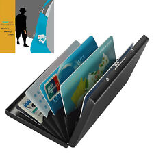 Stainless Steel Aluminum Slim RFID Credit Card Protector Wallet with 6 PVC Slots