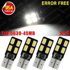 4X T10 White Error free  LICENSE PLATE Interior LED Light BULB W5W 194 192 US