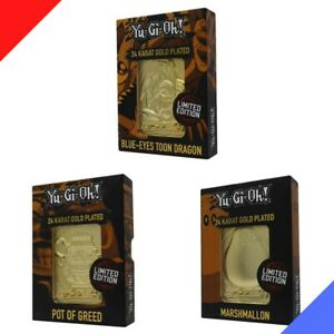 Yu-Gi-Oh! - Limited Edition 24K Gold Plated Collectible (Set of 3) - PREORDER