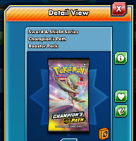 50x Champion's Path Pokemon TCG Online Booster Pack code PTCGO (Sent In Game)