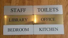 Room Door Sign House Plaque Bedroom Kitchen Bathroom Office Study Toilets Custom