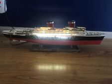 Vintage Ideal Ss United States Lighted Ship Model - Pre Owned