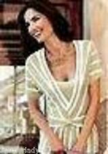 Kaleidoscope womans BEIGE IVORY short sleeved jumper 2 in 1 UK 16 EU 44 NEW