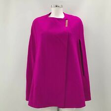 Ted Baker Cape Jacket Size S Vibrant Pink Wool Cashmere Occasion Women's 340700