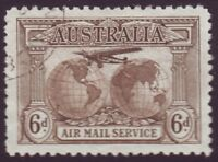 6d BROWN AIRMAIL VERY FINE USED  (A7971)