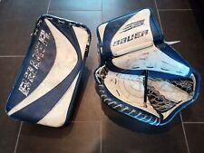 Bauer Supreme Pro trapper glove blocker vintage hockey goalie Cujo Maple Leafs