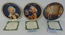 Marilyn Monroe Bradford Exchange Collector Gold Plates (3) COA