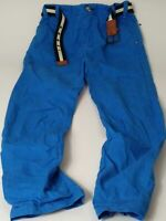 BOYS NEXT BRIGHT BLUE BELTED ADJUSTABLE WAIST TROUSERS CHINO JEANS AGE 11 YEARS