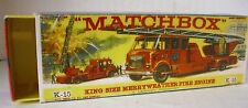 Repro Box Matchbox King Size K-15 Merryweather Fire Engine