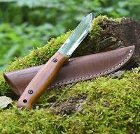 BPS Knives BS2FTS Bushcraft Full Tang Knife Leather Sheath Carbon Steel Scandi