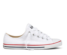 CONVERSE ALLSTARS OX LO DAINTY WHITE LOW PROFILE SLIM SOLE WOMENS LADIES SIZES
