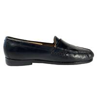 Cole Haan Mens Size 10 D Black Leather Kilt Buckle Slip On Loafer Shoes C03518