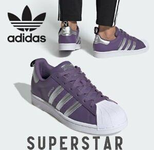 Adidas Originals Superstar Purple/Silver Metallic Leather Women's Shoes FV3631