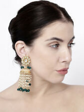 Indian Bollywood Green Pearl Long Jhumki Jhumka Earrings Diwali Fashion Jewelry