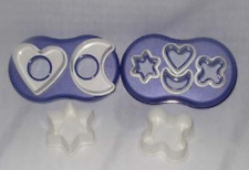 Tupperware Cookie Cutters Set ~ 8-in-1 ~ with Blue Acrylic Case ~ New
