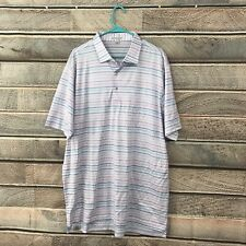 Peter Millar Golf Polo Shirt Xl Pink Blue White