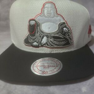 Mitchell And Ness Rare Buddha Hat Vintage 4U Buddha Straw Material Snapback!
