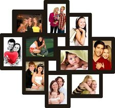 Trendzy 10-in-1 Collage Wall Photo Frame (55cm x 1.1cm x 58.3cm, Black)