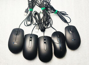 JOBLOT X5 DELL MICE WIRED USB FOR PC OR LAPTOPS ***VERY CLEAN CONDITION**