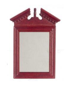 Dolls House Mahogany Wooden Framed Wall Mirror 1:12 Scale Miniature Accessory