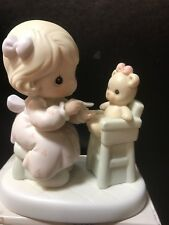 "Precious Moments Members Only Figurine ""Sharing"" #Pm942 Mark: Trumpet -1994.new"
