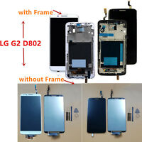One Set LCD Touch Screen Digitizer Assembly for LG G2 Series D800/802 with Frame