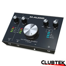 M-Audio M-Track 2X2M 2 In 2 Out 24/192 USB Audio/MIDI Interface Dual Mic UK