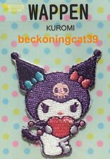 LAST Sanrio Character Kuromi Embroidered Applique Patch Badge Sew Iron On JAPAN
