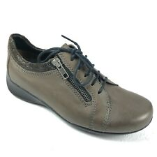 WOLKY Bonnie shoes 37 6 gray green lace up zipper removable footbed oxfords $179