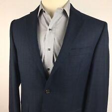 Ralph Lauren Sport Coat Blazer 40R Dark Blue Black Check Striped 2 Button