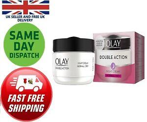 Olay Double Action Moisturiser  Night Cream Face Hydration 50 ml Normal Dry Skin