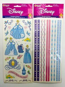 Sandylion Disney Cinderella Stickers & Borders - Set of 2 NIP