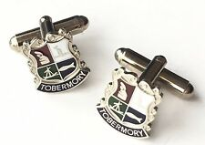 Tobermory Whisky Country Small Enamel Crested Cufflinks (N171) Gift Boxed