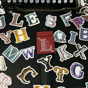 """""""English Letters"""" 45pcs Sticker Extra 15% off Buy Any 2+ Stickers Vintage Craft"""