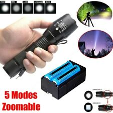 Super Bright 1000000Lumen Flashlight Rechargeable High Power 18650 Hunting Torch