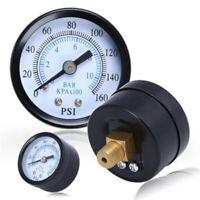 "1/8"" NPT Air Compressor Pressure Hydraulic Gauge Back Mount 0-160 PSI Hot"