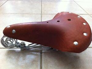Vintage Leather Seat Schwinn Rat rod Chopper Cruiser Bikes Repro