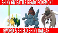 Pokemon Sword & Shield 6IV Shiny Sirfetch'd, Corviknight, Coalossal Battle Ready
