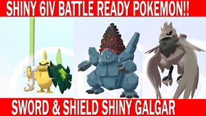 Pokemon Sword & Shield 6IV Shiny Sirfetch'd, Corviknight, Coalossal Battle Ready