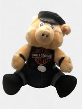 "Harley Davidson Motorcycle Pig Hog 10"" Mascot Plush 1993 Vintage"