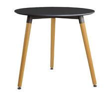 Esstisch Buche Tisch rund Dm. 80 cm MDF Designertisch Retro schwarz massiv !!!