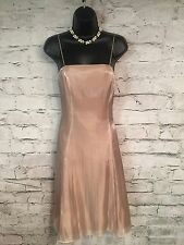 """NEW - Exquisite DEBUT Pale Gold Full Organza Cocktail Dress  UK 12  32"""" Bust"""