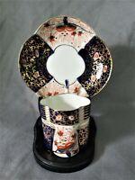 Antique Imari Demitasse Tea Cup and Saucer Espresso Ornate Cobalt English